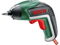 Bosch Cordless Screwdriver XO with set of screw bits.