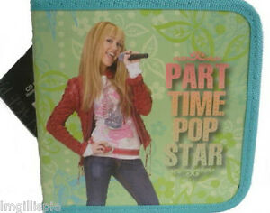 NWT-Disney-Hannah-Montanna-CD-DVD-Pop-Star-Carry-Case