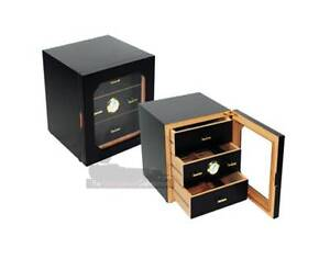 ELEGANT 50 COUNT BLACK 3 DRAWER CIGAR HUMIDOR Chadstone Monash Area Preview