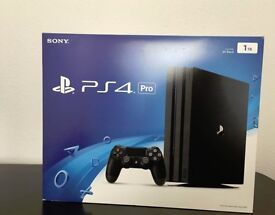 PS4 PRO 1TB BRAND NEW FACTORY SEALED GAMING CONSOLE PS4 SONY PLAYSTATION XBOX ONE PS4 GAMES CONTROL!