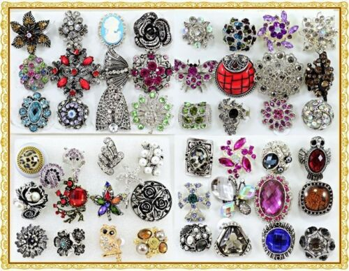 25 Wholesale Lot Chic Cocktail Costume Jewelry Rings Bi