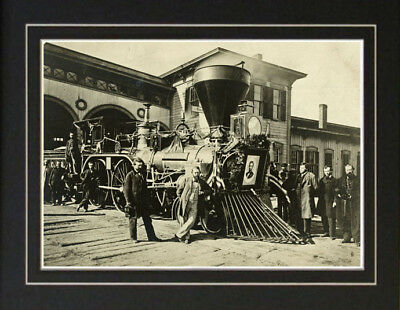 1865 Abraham Lincoln Funeral Train Photo Assassination