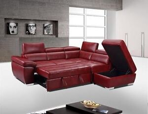 SECTIONAL SOFA BED WITH CHAISE AND FLOATING OTTOMAN