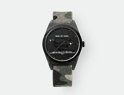 DC Comics Genuine Superman Wrist Watch Camouflage Band Movie Gift DC14107S-CBA