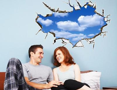 3D Blue Sky White Cloud Home Room Decor Removable Wall Stickers Decal Decoration - Sky Home Decor
