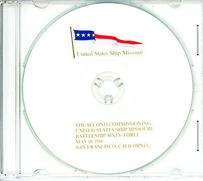 USS Missouri BB 63 2nd Commissioning Program 1986 United States Navy Plank Owner