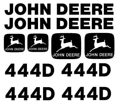 John Deere 444d Wheel Loader Decal Set Turbo Jd Stickers 4x4 3m Emblem