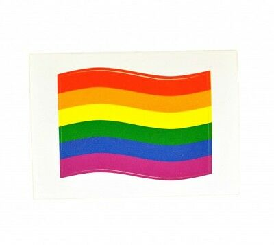 10 x  Aufkleber Rainbow Regenbogen  Sticker gay  5,2cm x 3,5cm