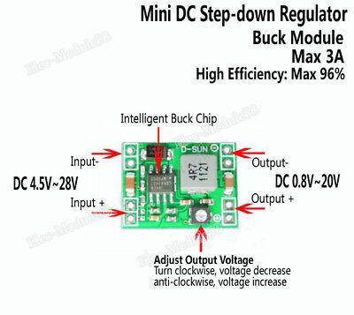 3a Dc Buck Step Down Adjustable Converter Module 5-28v To 3-20v 5v 6v 9v 12v 24v