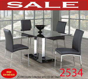 kitchen & dinette sets, tables, arm chairs, stools, 2534M 5pc