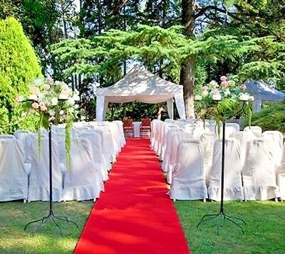 RED AISLE - EVENT RUNNER 50 FT X 38 IN ~ RESISTS PUNCTURES  WEDDING ~ GRADUATION