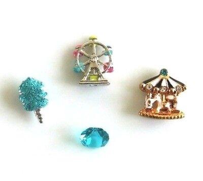SALE! Authentic Origami Owl Ferris Wheel Aqua Cotton Candy Carousel Charm Lot 11 - Candy Charm