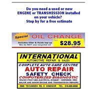 New or used engine or transmission installed - auto repair