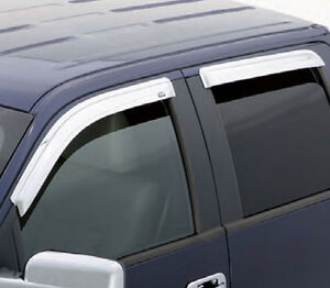 Stampede - Déflecteurs de portes Chrome pour camions