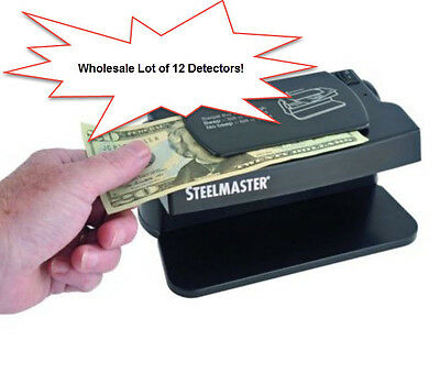 Wholesale Lot Of 12 Steelmaster Dual Counterfeit Bill And Id Detector
