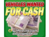 Wanted cars vans 4x4 for top cash prices