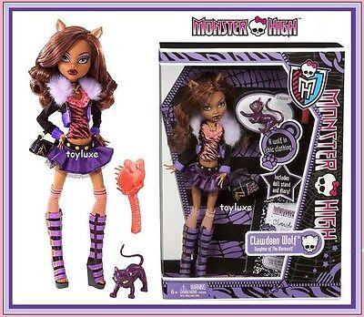 Monster High ORIGINAL Clawdeen Wolf Doll & Pet Cat CRESENT Werewolf New - Clawdeen Wolf Monster High