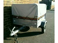 Erde 101 Trailer with high extension kit