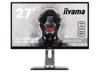 """Iiyama GB2783QSU-B1 27"""" G-Master QHD Gaming Monitor"""