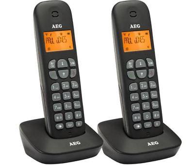 AEG Voxtel D135 Twin - Zwei schnurlos DECT Telefon mit Anrufbeantworter + B-Ware ()