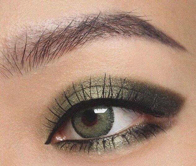 Farbige grüne Silikon Kontaktlinsen mit & ohne Stärke weich grün sehr natürlich