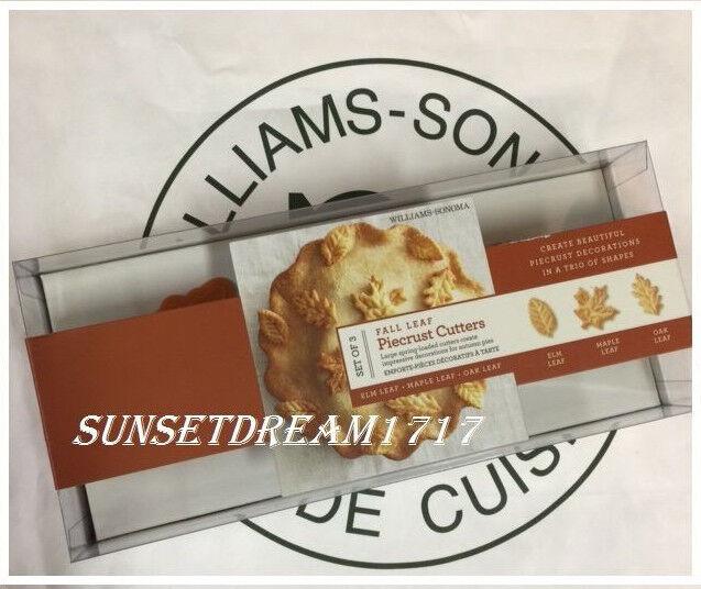 Williams-Sonoma Thanksgiving Fall Leaf Piecrust Cutters Elm/Maple/Oak Leaf -S/3