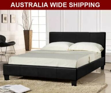 WarehouseSPECIAL Brand New all size Pu Leather Bed Black White Clayton South Kingston Area Preview