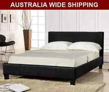 WarehouseSPECIAL Brand New all size Pu Leather Bed Black White Melbourne CBD Melbourne City Preview