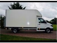 Man with van house removal office commercial moving sofa furniture delivery man and van local