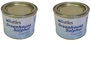 Two Battles Sulphur Candles 225g x 2 ( 450g) Eliminates Pests From Greenhouses