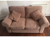 2 seater light brown sofa