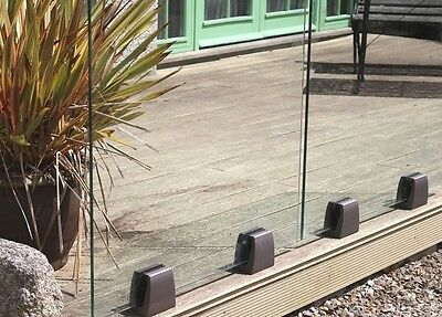 Aluminium Frameless Glass Balustrade Fence Post & Railings Stairs Balcony system