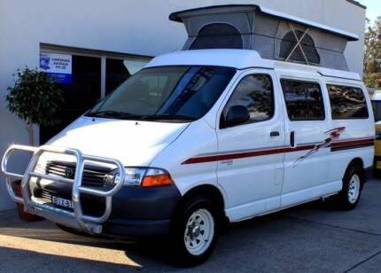 2002 Toyota Hiace SBV Pop-top campervan with Hot water & Shower Albion Park Rail Shellharbour Area Preview