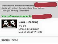 Drake tickets for SALE!!!!!!!!! £180 each