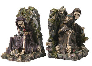 Grim reaper bookends collectible figurine gothic skulls and skeletons ebay - Gothic bookends ...