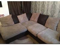 Jumbo cord corner sofa - can deliver