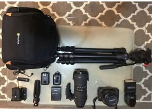 Canon D70 with many tools