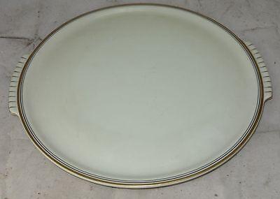 Langenthal Porzellan Elfenbein mit Goldrand großr eunde Kuchenplatte 30,8 cm