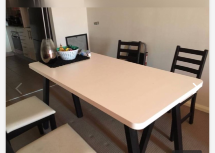 Dining table + 4 chairs only $80!!!!!!
