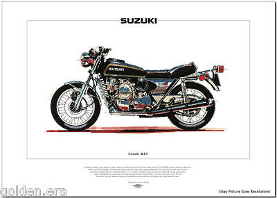 SUZUKI RE5 - Motorcycle Fine Art Print - Rotary Engined