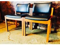 Pair Vintage Retro Lounge Chairs Parker Knoll Cornwell Norton