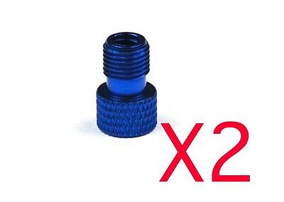 BLUE Alloy Presta to Schrader Valve Adapter KEYCHAIN Never Lose it Again!
