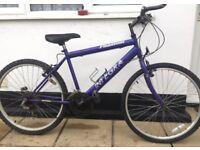 """Adults Integra mountain bike. 18"""" Frame. 26"""" Wheels. Fully working"""
