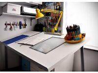 Rare Artist animation architect tracing drawing drafting table desk top IKEA VIKA BLECKET