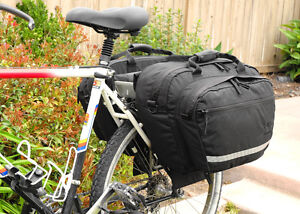 Jannd Commuter Panniers pair with laptop insert and rain covers