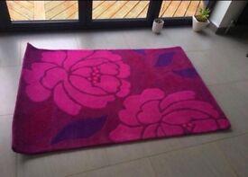 Flowery Wool Rug