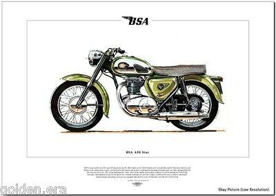 BSA A50 STAR - Motorcycle Fine Art Print - 1962 Twin