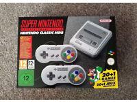 Nintendo SNES Mini Classic Games Console + 2 Controllers + 21 Inbuilt Games