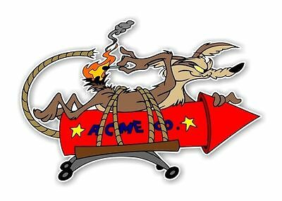 Home Decoration - Wile E Coyote ACME Rocket  Decal / Sticker Die cut