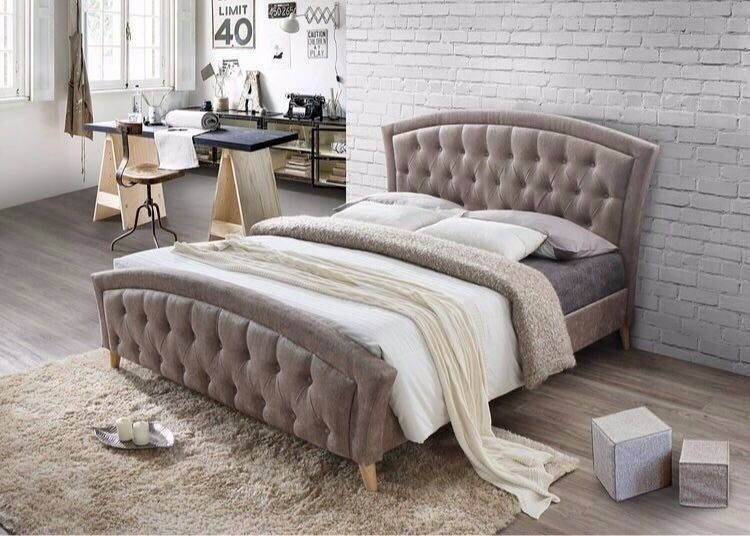 LIMITED TIME OFFER- Brand New Double Size Merci Designer Bed - AVAILABLE WITH MEMORY FOAM